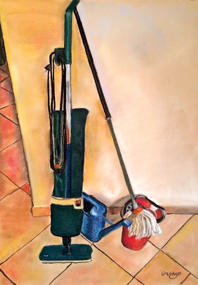 Lavori di casa a Sant'Anna. Housework at Sant'Anna, still life by Wildago in Italy 2018.
